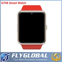Cheap 2016 GT08 Digital Bluetooth Smart Watch NFC Wrist Watch for Apple iPhone 6G 6 Plus 5S 5C Samsung S5 S6 Note 4 5 Android SmartPhone DHL free