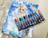 Wholesale 2015 New Frozen Baby Suits Watercolor Pen P Colouring Pictures P Color Stickers Kids Children Puzzle Painting Holiday Gift
