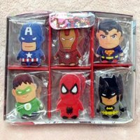 Wholesale 500pcs box Cute Cartoon The Avengers Rubber Eraser for Kids Gift School Cartoon Girls Children Kid Favor Gift