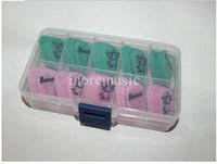 Wholesale 100 piece Guitar Picks Signature Pink and Green free case