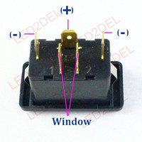 Wholesale 10x Car electric window lifter single pins switch button for Vw santana