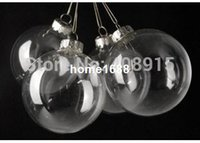 clear glass ornaments - Christmas Ball quot Clear Glass Ornament Balls mm Silver Tops Wedding Christmas Party Decoration