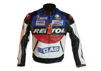 Wholesale Hottest PU Leather Motorcross Clothing Motorcycle Cool Racing Clothes Jacket Clothing Jersey Waterproof Motorbike Racing Wear REPSOL