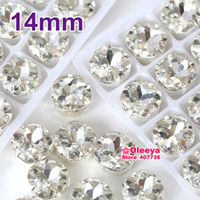 Wholesale mm Crystal Clear White Fat Square Sewing Fancy Stone glitter Loose Strass Sew On Claw Rhinestones For Dress Y1945