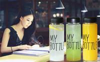 Wholesale 500ML Fashion Portable Clear My Bottle Sport Plastic Fruit Juice Water Cup