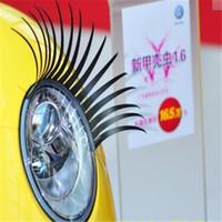 Logo Sticker Preto 3D Automotive Farol Cílios Car Eye Lashes Auto pestana 3D carro charmoso cílios adesivos para carros 500pairs = 1000pcs