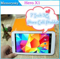 Héros X1 MTK6572 de 7 Pouces 3G de la Tablette de Téléphone téléphone / tablette Android 4.2 Dual Core, 4 GO Dual SIM Double Caméra de Téléphone de GPS PC de Comprimé d'Appel 002554