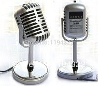 used computer - Free Shiping Professional Silver Deluxe Vintage KTV Vocal Condenser Microphone Vintage Microphone Use With Laptop Microphone