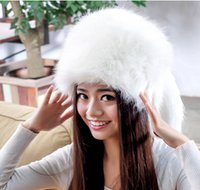 Cheap New Russia Winter Fur Hat Round Warm Hat Fox Hair Round Warm Hat Keep Warm Lady Hat Girl Fashion Warm Round Hat Muti-Colors Free Shipping