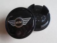 Wholesale MIX by DHL mm mini wing john cooper works england flag wheel center caps hub cover car emblem badges black