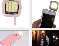 Wholesale RK05 smartphone Led flash Light fill light night using Selfie Phone Photo Light Enhancing Sync LED Flash Light for iphone Samsung phone