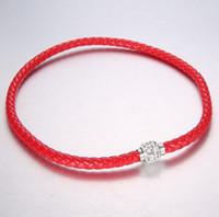Libre del cuero DHL MIC Shambhala Weave Checa Crystal Rhinestone Cuff arcilla corchete magnético brazalete de las pulseras 10 colores