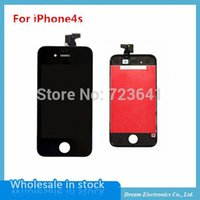 Wholesale For iPhone4s LCD Display Touch Screen digitizer Frame assembly High quality NEW Replacement Part Assembly