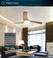 Wholesale Inch W LED ceiling fan light with remote control switch ABS blades light colors acrylic material