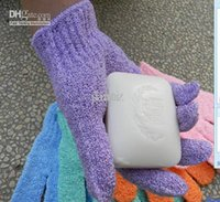 Wholesale Cloth Mitt Exfoliating Face or Body Bath Scrub Moisturizing gloves April Glove