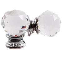 Wholesale 10Pcs mm Diamond Crystal Shape Cupboard Wardrobe Drawer Pull Knobs Handle hose use order lt no track