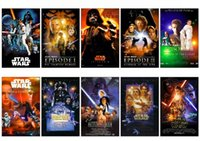 Wholesale 10 set Star Wars Series Movie Poster Picture Souvenir Card Sticker DIY Scrapbooking Decoration Self Adhesive Stickers