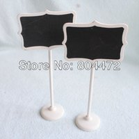 antique white frames - Deal x Wood White Framed Scroll Mini Blackboard Chalkboard Stand Wedding Decoration Table Number Place Holder Food Labels