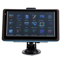 Wholesale 7 Inch TF Built in GB TF Car GPS Navigator Blue Edge USA Canada and Mexico Map Ship From USA