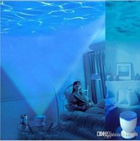 baby speakers - Painel De Led New Gifts Ocean Daren Blue Waves projector Pot led Baby Night Light with Speaker Function Indoor Lighting