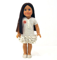 american girl games - 18 quot Vinyl American Doll with Dress Gift BJD Long Hair Girl Change Clothes Stuffed Toys for Kids Playhouse Game Accessories