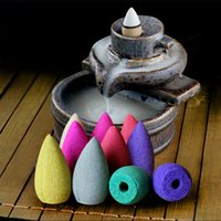 Wholesale 50 smoke backflow incense bullet cones aromatherapy fragrance natural sandalwood Indoor household