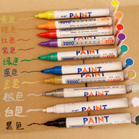 Wholesale Colorful Waterproof Permanent Paint Pen Car Bike Tyre Mental Stone Glass Markers order lt no tracking