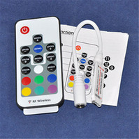 Wholesale 16 Keys Mini RF Wireless RGB remote controller for LED module and LED strip lights Untra slim V Watts output