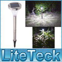 Wholesale Stainless Steel PIR Infrared Motion Light Sensor Outdoor Garden Solar Powered Landscape Lawn Path Yard Park Lamp White Light