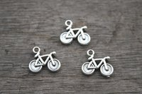 bicycle pendant - 30pcs Bicycle Charms Antique Tibetan Silver Lovely Bike Charm Pendant x15mm