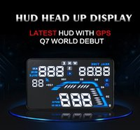 Wholesale Q7 Universal GPS Car HUD Head Up Display Q7 inch Speed Alarm Time Satellite Number Altitude Projector Head Up Display