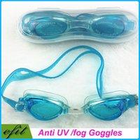 Wholesale Free DHL Anti Fog UV Swimming Goggles Coating Swim Glasses For Men Women Children Swim Eyeglasses Gift Earplugs With Retail Box