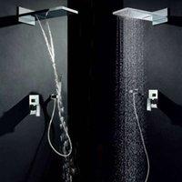 Wholesale Concealed shower set rain type intelligent temperature shower shower nozzle top spray