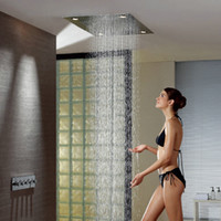 Wholesale 800X600mm Function Led Shower Head Ultralarge Big In Wall Concealed Luxury Top Spray Shower Set Mixer Faucets