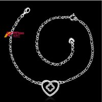 anklet quarter - Sterling silver jewelry in Europe and America Ms quarter enthusiastic shaped anklet SPA022