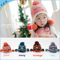 aviator hat orange - Baby Kids New Earmuffs Pilot Cap Hot Warm Toddler Children Aviator Earflap Hat for Winter Pink Blue Orange Navy Color MZ22029