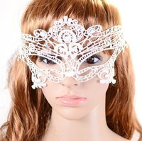 Wholesale Sexy Lace Veil Halloween Masquerade Dance Mask Lace Face Mask Black Cutout Party Masks Black White Christmas Toy