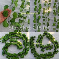 artificial leaves - 12 artificial silk Ivy leaves garland styles green foilage wedding crafts home party decoration