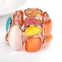 red and white rope - 1 high end Manufacturers selling creative colorful Opal Bracelet Jewelry exports Europe and the United States personality