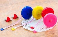 Wholesale Cute Retractable plastic Tape Measure bright color button control Sewing Flexible Ruler tape ruler Flexible Ruler Tape Measure m