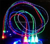 Cheap Cheap Charger Line Micro USB LED Light Retractable Charging Data Sync Cables Smile Face LED USB Cable For Samsung HTC cell phone