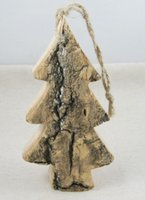Wholesale SALE cm Natural Crafts Small Tree Pendant Creative Gift Christmas Supplies pack