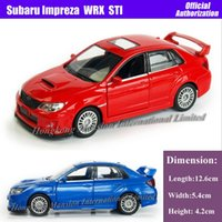 SUV diecast model car - 1 Scale Diecast Alloy Metal Car Model For SUBARU Impreza WRX STI Collection Model Pull Back Toys Car Red Blue White