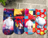 Wholesale 2015 Children Girls Kids Socks Summer Cotton Big Hero Baymax Boys Socks Cartoon Children s character socks years JIA152