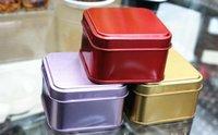 Cheap Size:60*60*38MM rectangle tin box plain metal small tin mint tin candy storage box