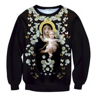baby madonna - 2015 new design Queen Print Casual Pullovers Hoodies Sweatshirt Madonna Baby Floral Unique Models d Printing plus size