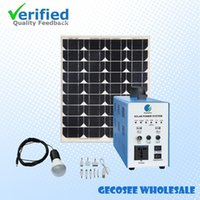 Wholesale solar electricity generator system and solar lighting kit for home w solar home lighting system for house