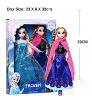 Wholesale Hot Frozen Toys Anna Elsa Olaf Dolls cm inch Kids Christmas Birthday Dolls Gift Children Classic Toys