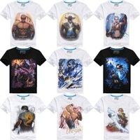 100% cotton plus size - New Fashion Men D Personality Print Plus Size T Shirt Short Sleeve Casual T Shirt Cotton Summer Men Clothes