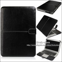 Wholesale 20PCS Luxury Leather Laptop Sleeve Bag Case Cover For Apple Macbook Air A1370 A1465 Mac Notebook inch Case